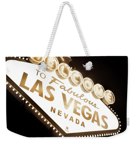 Tonight In Vegas Weekender Tote Bag