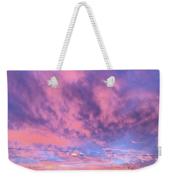 Tonight's Sunset Over Tesco :) #view Weekender Tote Bag