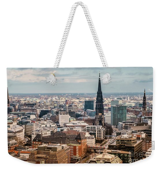 Top View Of Hamburg Weekender Tote Bag