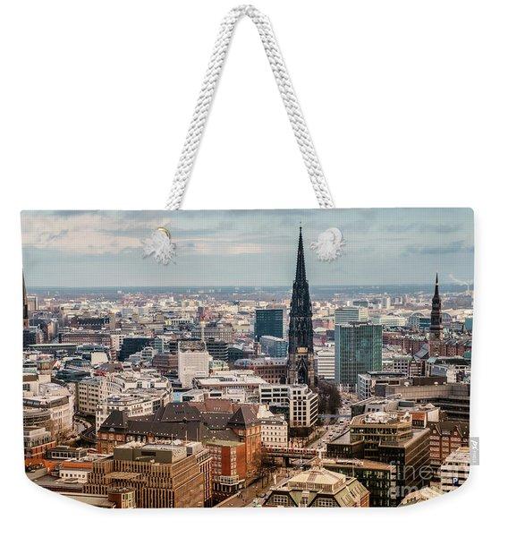 Top View Of Hamburg Weekender Tote Bag