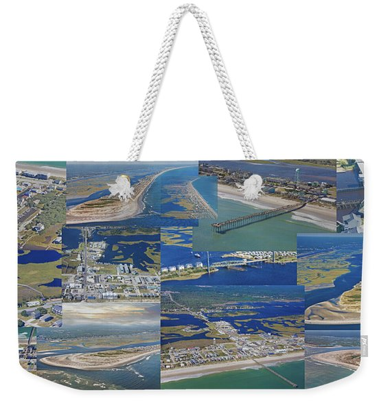 Topsail Island History From Above  Weekender Tote Bag