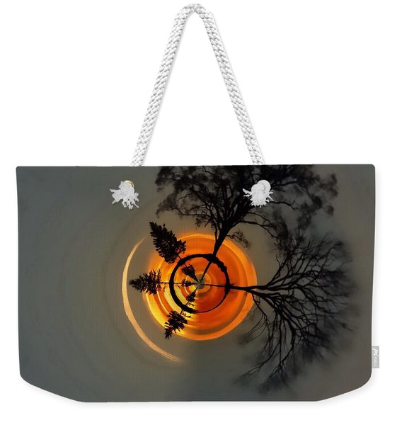 Topsy Turvy World - Sunset Weekender Tote Bag