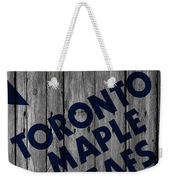 Toronto Maple Leafs Wood Fence Weekender Tote Bag