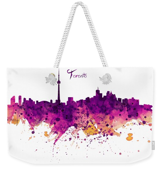 Toronto Watercolor Skyline Weekender Tote Bag