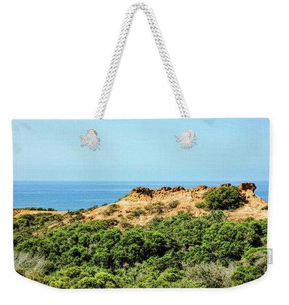 Torrey Pines California - Chaparral On The Coastal Cliffs Weekender Tote Bag