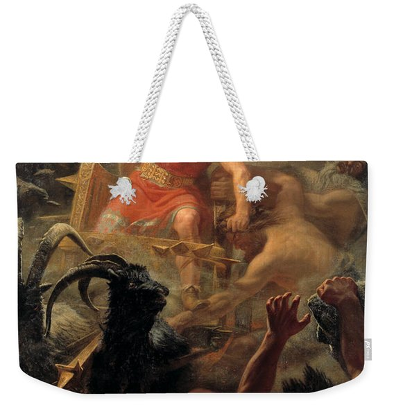 Tor's Fight With The Giants Weekender Tote Bag