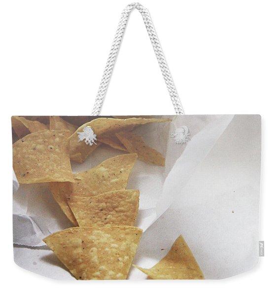 Tortilla Chips- Photo By Linda Woods Weekender Tote Bag