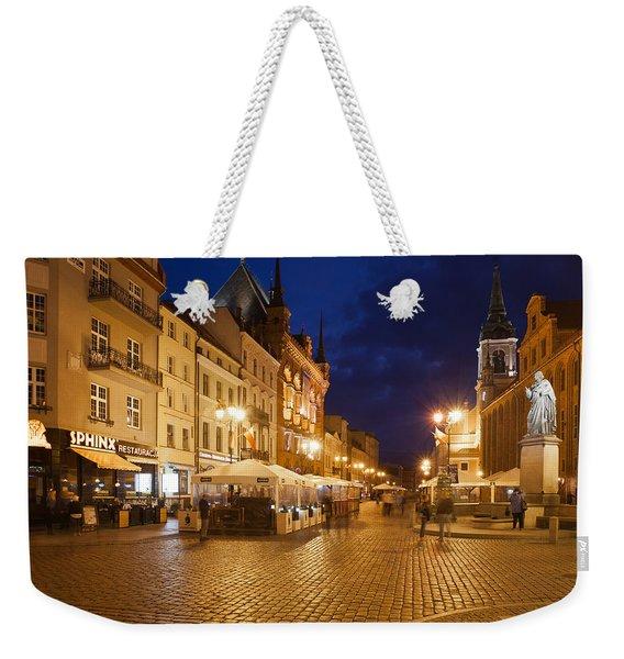 Torun Old Town Market Square At Night Weekender Tote Bag