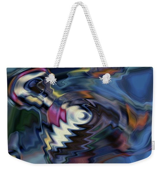 total discombobulation from      U refuse to consider my point Weekender Tote Bag