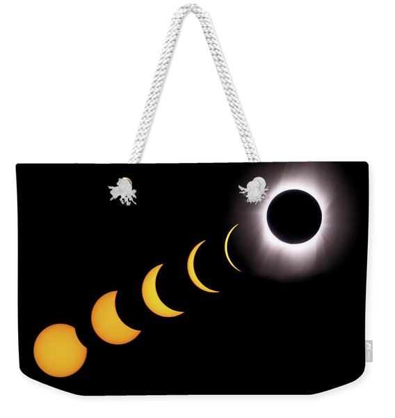 Total Eclipse Sequence, Aruba, 2/28/1998 Weekender Tote Bag
