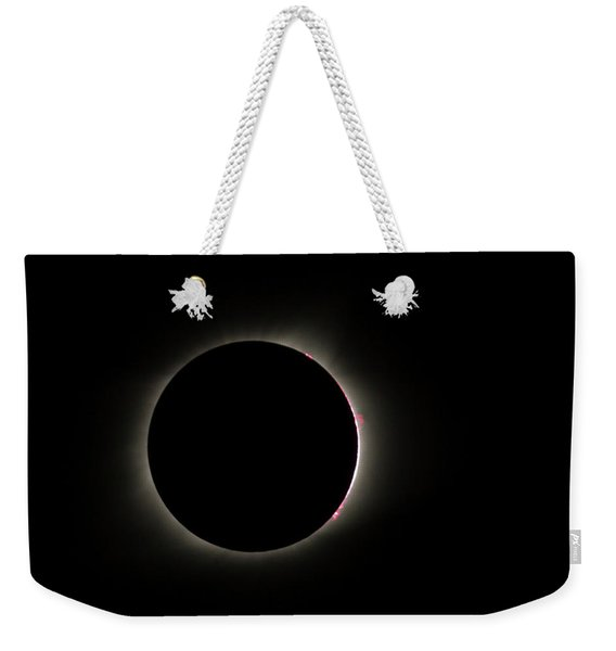 Total Eclipse Solar Flares Weekender Tote Bag