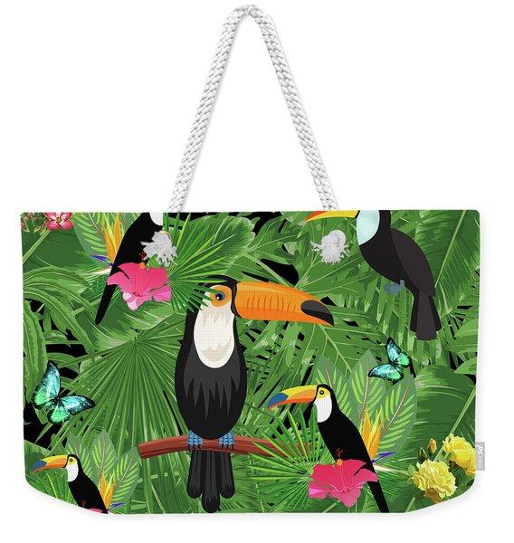 Toucan Tropic  Weekender Tote Bag