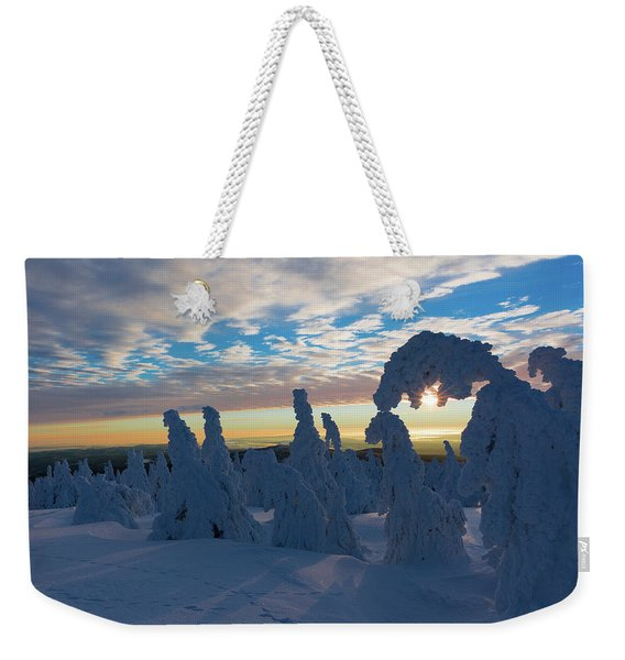 Touched From The Winter Sun Weekender Tote Bag