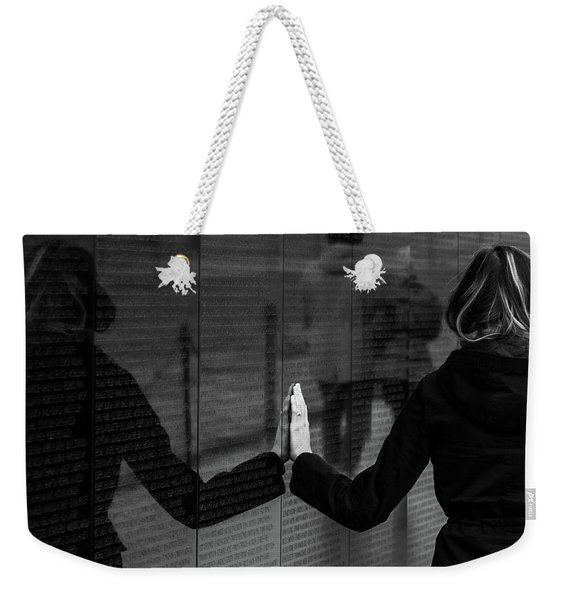 Touching Moment Weekender Tote Bag