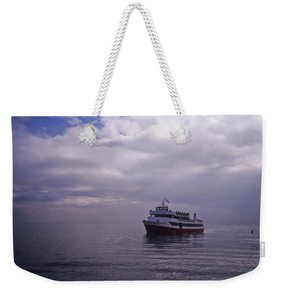 Weekender Tote Bag featuring the photograph Tour Boat San Francisco Bay by Frank DiMarco