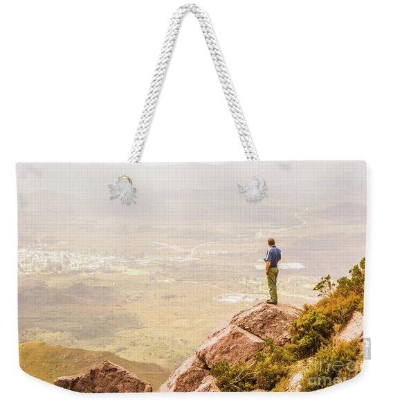 Tourist On The Tip Of Western Tasmania Weekender Tote Bag