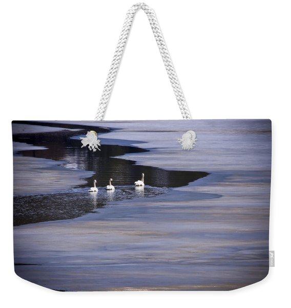 Tourist Swans Weekender Tote Bag