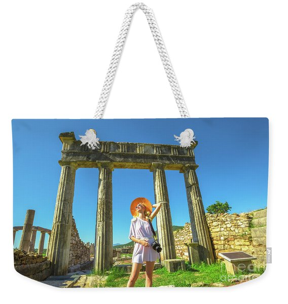 Weekender Tote Bag featuring the photograph Tourist Traveler Photographer by Benny Marty