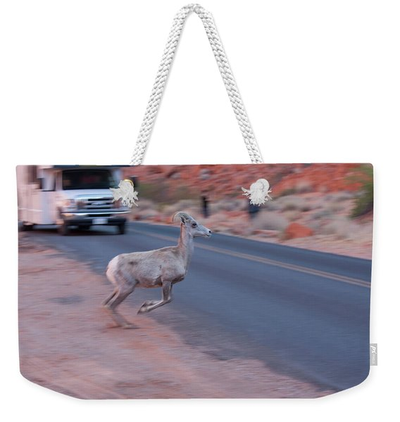 Tourists Intrusion In Nature Weekender Tote Bag