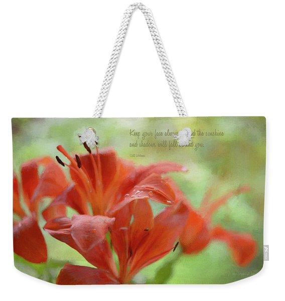 Toward The Sunshine Weekender Tote Bag