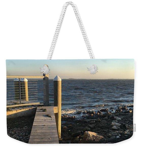 Towards The Bay Weekender Tote Bag