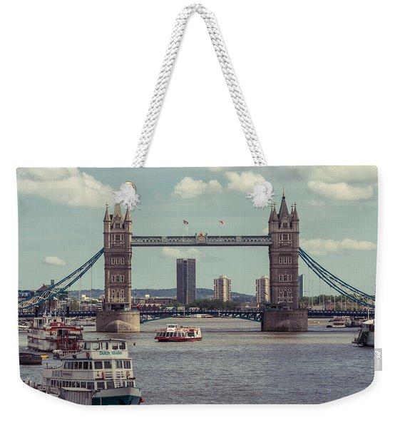 Tower Bridge B Weekender Tote Bag