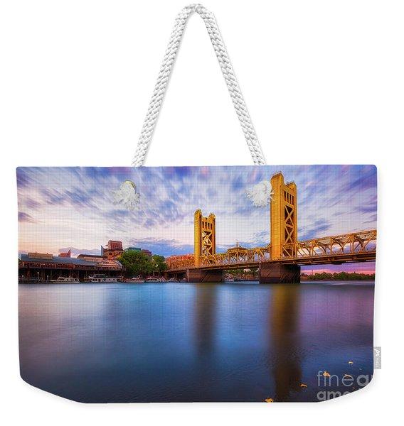 Tower Bridge Sacramento 3 Weekender Tote Bag