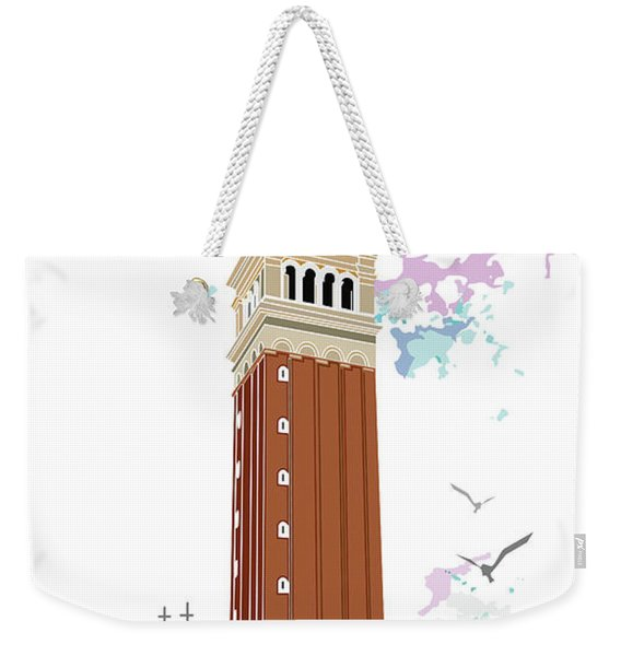 Tower Of Campanile In Venice Weekender Tote Bag