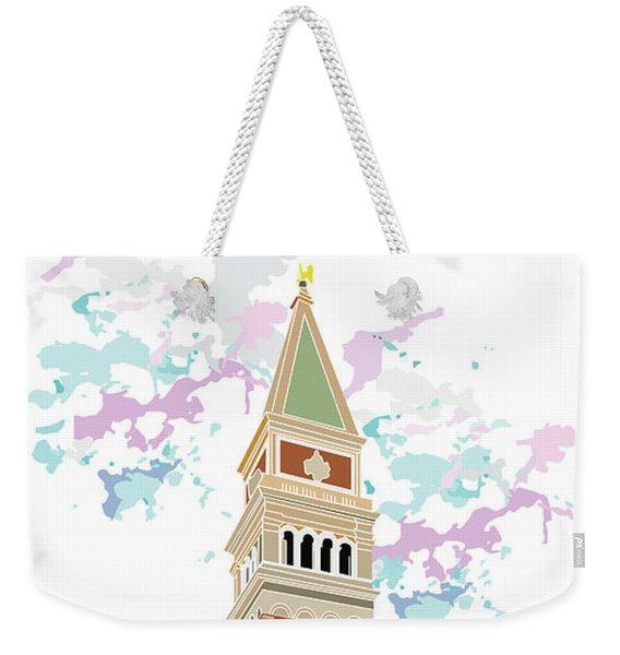 Tower Of Campanile In Venice Weekender Tote Bag
