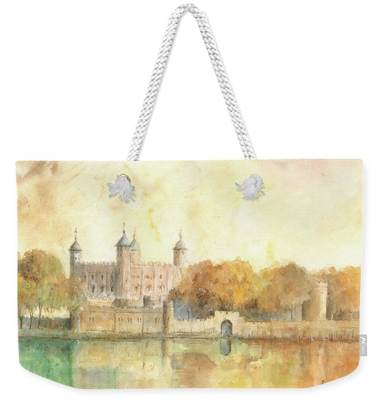 Tower Of London Watercolor Weekender Tote Bag