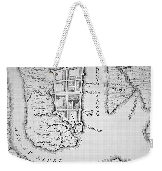 Town And Harbor Of Charleston South Carolina Weekender Tote Bag