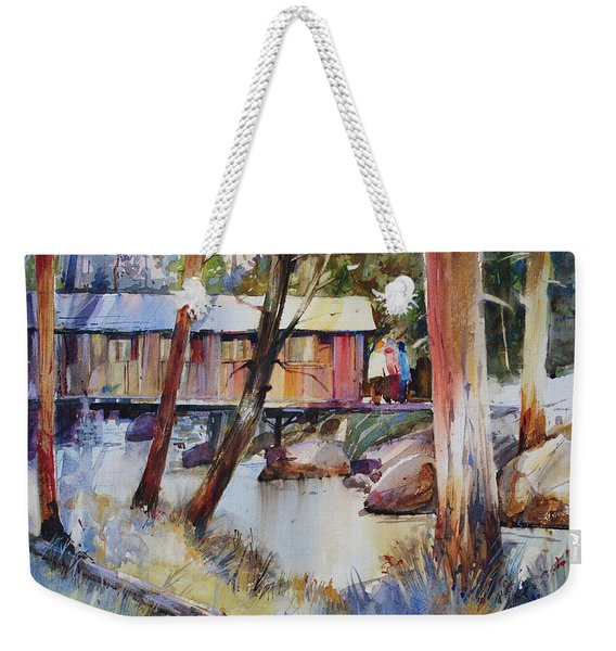 Covered Bridge Over Town Brook Weekender Tote Bag