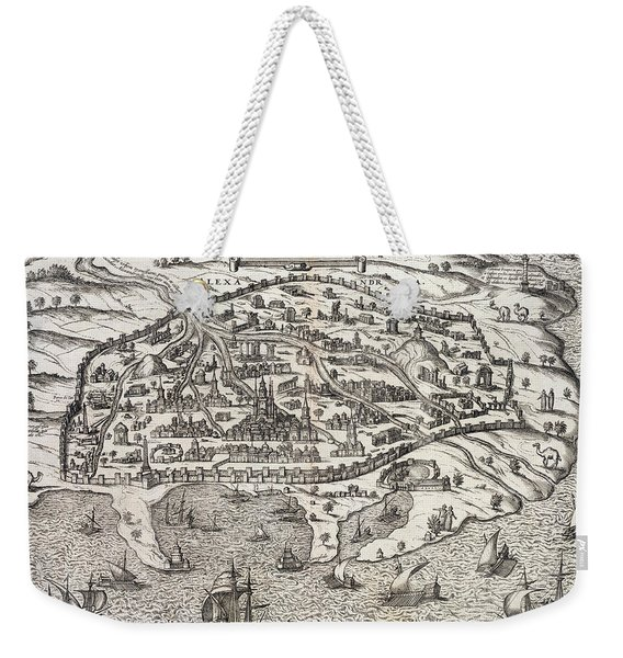 Town Map Of Alexandria In Egypt Weekender Tote Bag