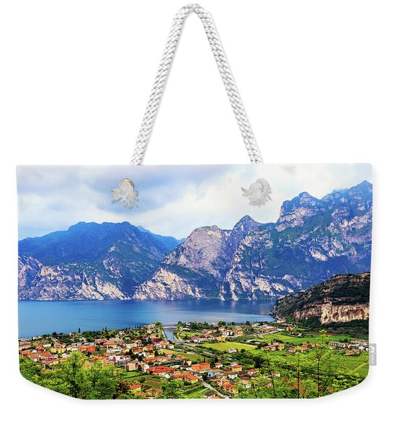Town Of Riva Del Garda In Northern Italy Weekender Tote Bag