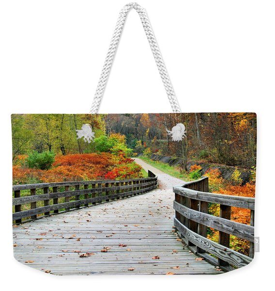 Towpath In Summit County Ohio Weekender Tote Bag