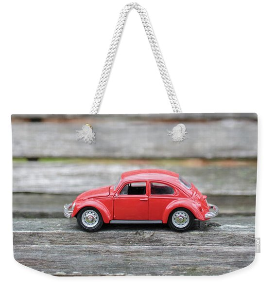 Toy Car On A Bench Weekender Tote Bag