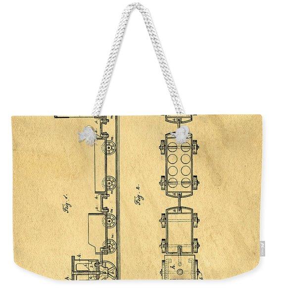 Toy Train Original Vintage Patent Art Weekender Tote Bag
