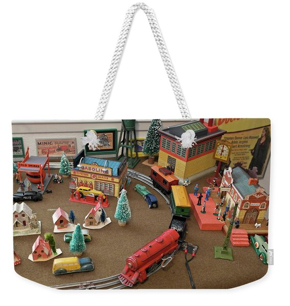 Toytown - Train Set Overview Weekender Tote Bag