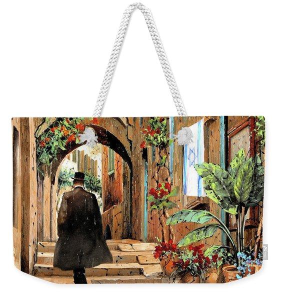 tra i vicoli a Jaffa Weekender Tote Bag