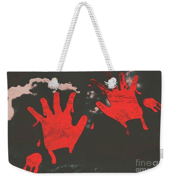 Trace Of A Serial Killer Weekender Tote Bag