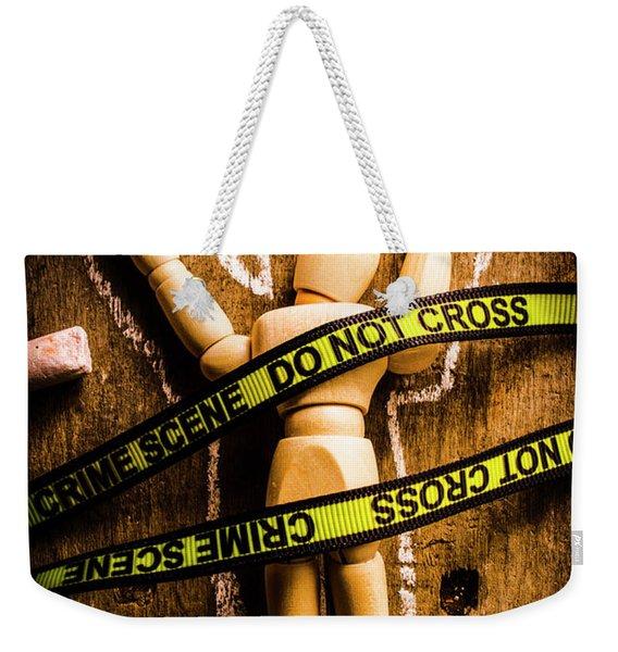 Tracing Of Tragedy Weekender Tote Bag
