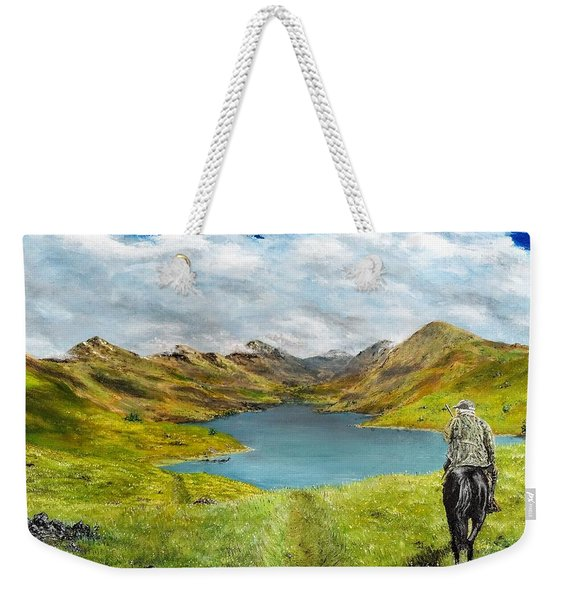Weekender Tote Bag featuring the painting Tracking Niseag by Kevin Daly