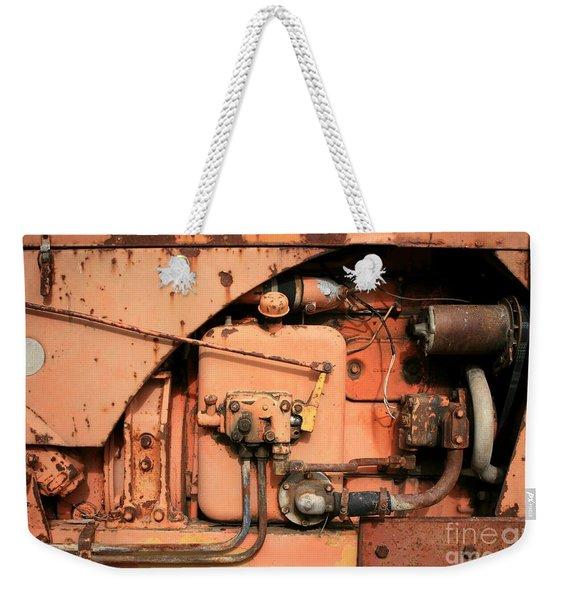 Tractor Engine V Weekender Tote Bag