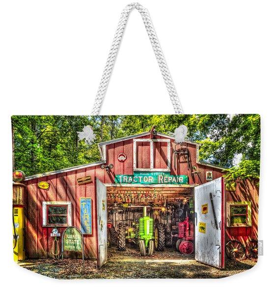 Tractor Repair Shoppe Weekender Tote Bag