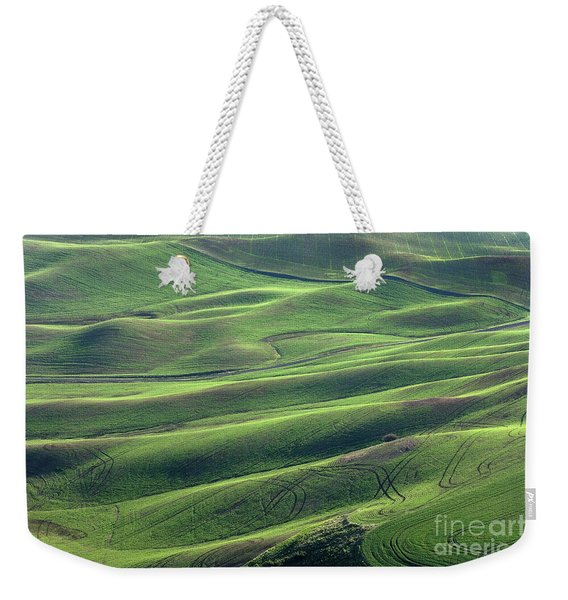 Tractor Tracks Agriculture Art By Kaylyn Franks Weekender Tote Bag