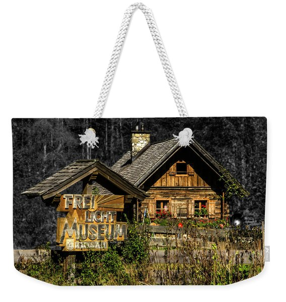 Traditional Austrian Wooden House Weekender Tote Bag