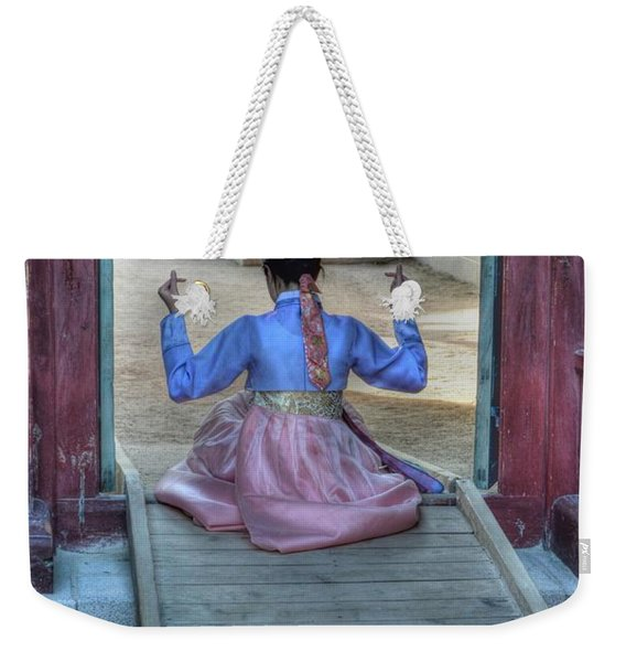 Traditional Clothes In Korea Weekender Tote Bag