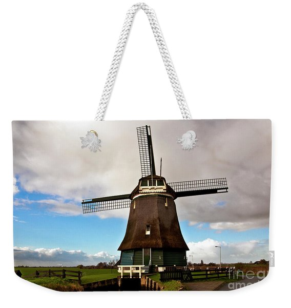 Traditional Dutch Windmill Near Volendam  Weekender Tote Bag