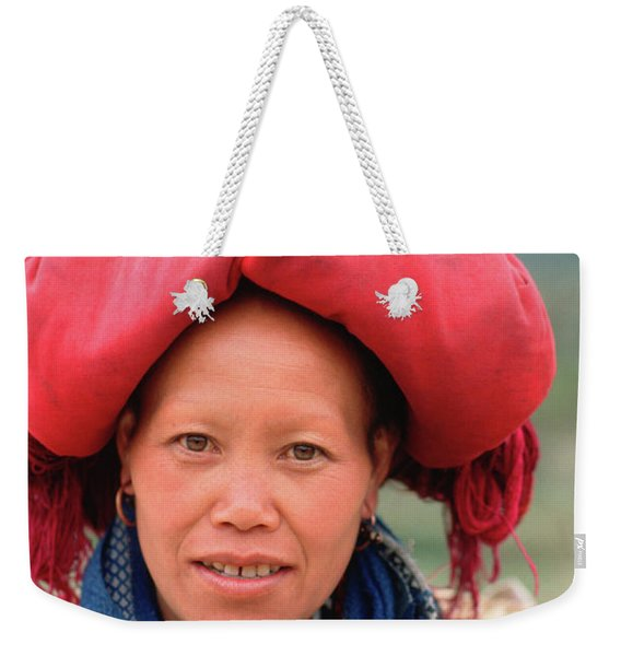 Traditional Fashion Of A Red Dzao Woman Weekender Tote Bag