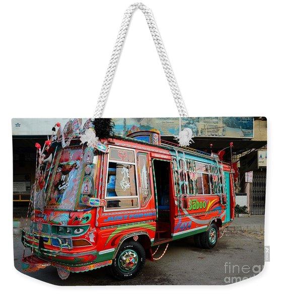 Traditionally Decorated Pakistani Bus Art Karachi Pakistan Weekender Tote Bag